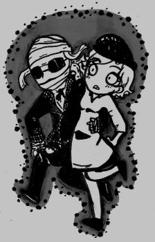 Me And My Dear (Black And White) by That-Love-Voodoo