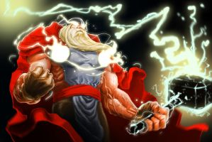 Thor Almighty by DINO-SAWR