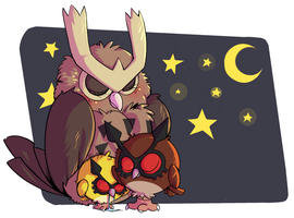 Owl Bedtime by Miniatureowl