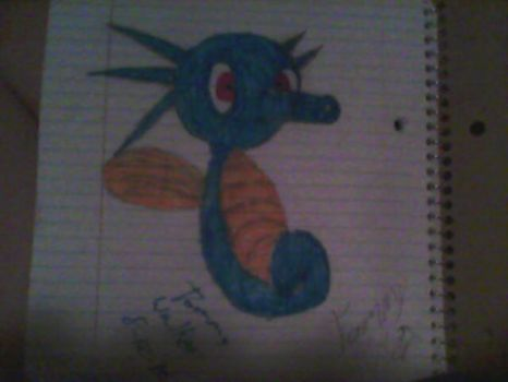 My Drawing of the Pokemon Horsea by tommywalk14