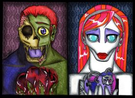 Zombie Loves Robot by LinaPrime