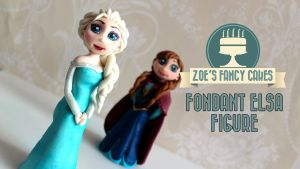Fondant Elsa Figure Frozen Elsa Cake Decorating by zoesfancycakes