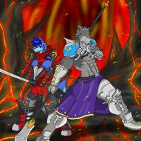 Alpha and Lance in the Dungeon of Hell by AlphaMoonlight