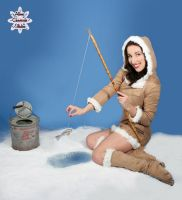 Ice Fishing Pin Up by MAdams06