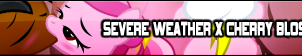 Severe Weather X Cherry Blossom Fan Button by MrMaclicious95