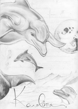 Dolphins by Karolina-Plotz