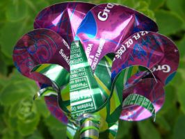 Recycled Pop Can Rose-Purple3 by Christine-Eige