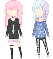 pastel goth adopt by meis10