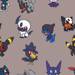 Chibi Dark Pokemon BG by VibrantEchoes