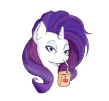 Rarity and a juice box portrait by MrFulp