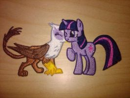 Gilda and Twilight Patch by EthePony
