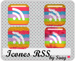Icons RSS Rainbow by ladymoom