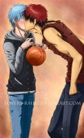 Kuroko x Kagami - The shadow and his light by Lovers-rain