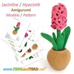 Jacinthe Hyacinth Amigurumi Pattern by FROG-and-TOAD