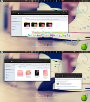 Theme For IconPackager SalmonPinkWhite Cute by PiitufiitoGrr