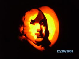 Benjamin Franklin Pumpkin Carving 06 by liquidinsect