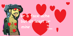 murdoc niccals valentine card by Cookies-lame-art