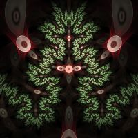 Christmassy Fractal by parrotdolphin