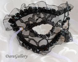 French Maid Lace and Leather Mask by DaraGallery
