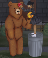 Cassandra Goth and Claire the Bear by RisaStorm