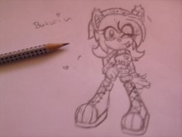 Bukuri the Hedgehog .:New Look:. by RaisytheDrummer