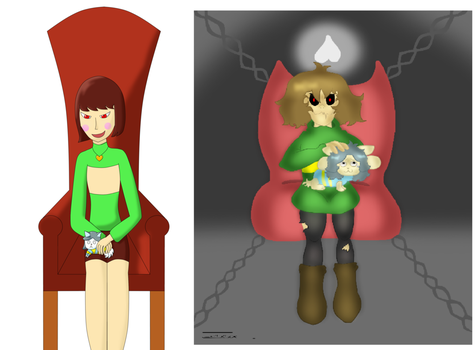 One Idea Two Drawings  Greetings  (comparison) by TIXIXX