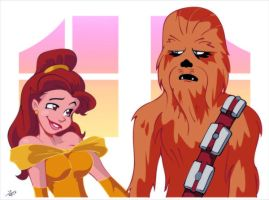 Beauty and the Wookie by RickCelis