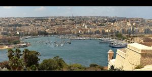 Marina - View From Valetta, Malta by skarzynscy