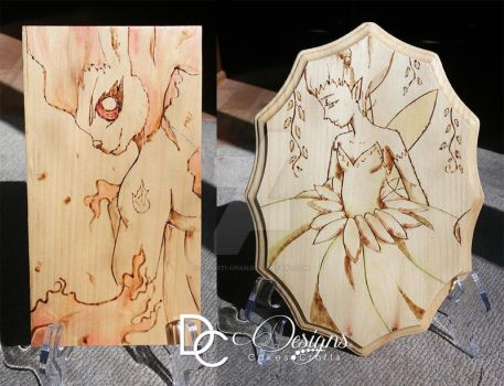 Wood burning art by christi-chan