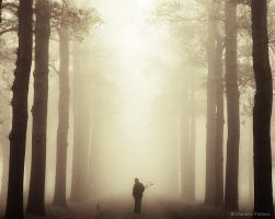 Photographer In The Mist by Nelleke