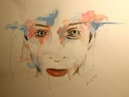 face painting no.1 - watercolor by LucaHennig