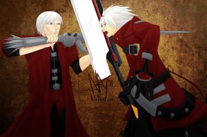 Dante vs. Ragna by Natolii
