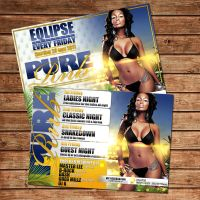 Pure rnb Party flyer by Adriano09