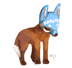 Masked fox by Magicpawed