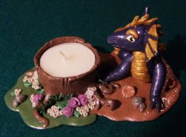 Dragon tealight holder by ladytech