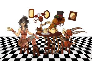 Steampunk Tea Party by Karla-Chan