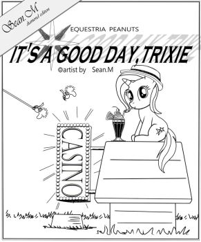 TrixieSnoopy Coverpage- It's a good day Trixie by AVCHonline