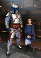 Jango Fett with Young Boba Fett by RubberDuckyTai