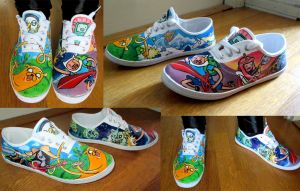 My AdventureTime shoes by Tohmo