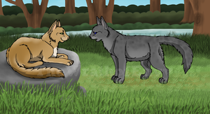 Thrushpelt and Ashfur by TheWrathofEnvy