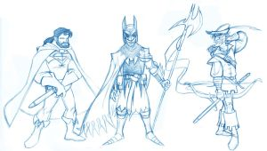 Ye Olde JLA sketches -part 1- by borogove13