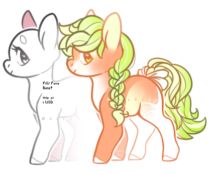 BabyDoll Pony Base + Adopt OPEN by AdopDee