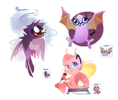 Pokemon fusions by oO-Kir-Oo
