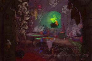 Begonia's Work Room by GingerOpal