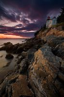 Last Light, Bass Harbor Maine by Brettc