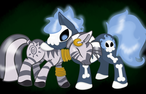 .:Point Commission:. Zecora + DeathFlame by x-Fox-Feathers-x