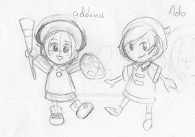 Ado and Adeleine Sketch by NoxPapillo
