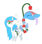 Flower Fawn: Daeva and Medic by LittleCeres