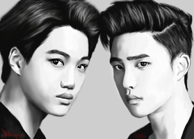 Kaisoo by justimaginethestars
