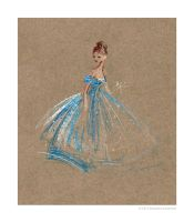 .:fashion illustration blue:. by StillesWasser